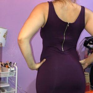 Purple knee high dress
